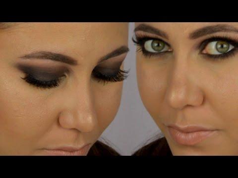 smoky eyes noir tutoriel maquillage youtube. Black Bedroom Furniture Sets. Home Design Ideas