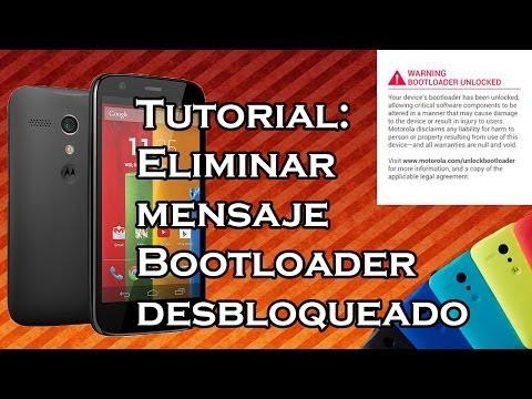VideoTutorial | Eliminar Logo Warning Bootloader Unlocked Moto G HD