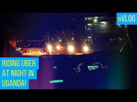 Late night #Uber ride in Uganda. Ride along!