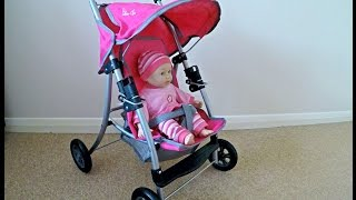 Pink Silver Cross Stroller / Unboxing Stroller / Baby  Dolls Pushchair /