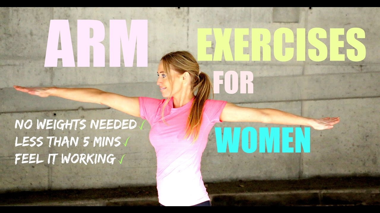 Arm Exercises For Women The Easy Way To Lose Flab No Weights Circuit Training Without Needed Start Now Youtube