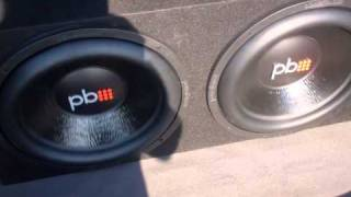 """TWO Powerbass 15"""" M154D POWERED BY Merlon Audio MEAM-3001D"""