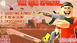 Roblox Jailbreak New AK47 NEW GUN Shooting Range Flashlight AK-47