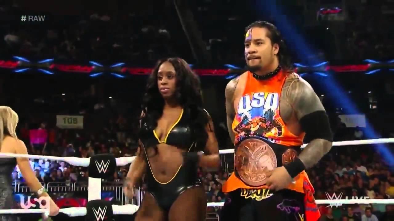 e9f6e0636a393 WWE RAW Naomi   Jimmy Uso vs Natalya   Tyson Kidd - YouTube