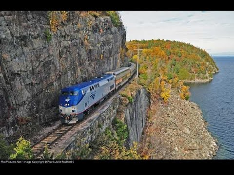 Riding the AMTRAK Adirondack from New York to Montreal (winter)