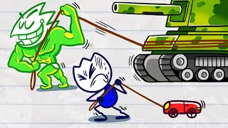 Max Flexes ALL The Muscles - Short Animated Cartoons of Funny Moment