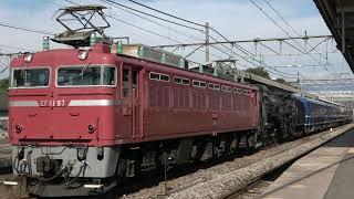 【JR】配9742レ C61 20+オヤ12 1+12系4B『SLおが号返却配給』沼田発車