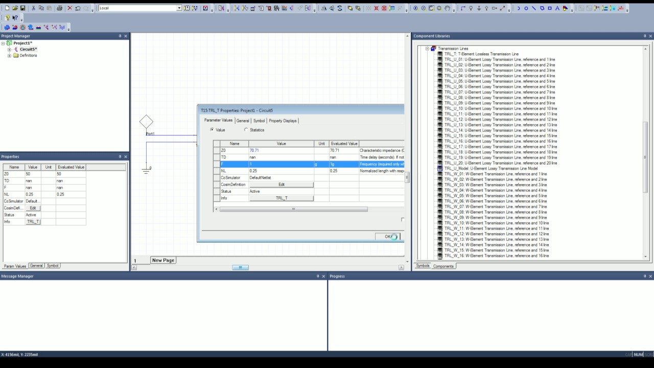 ANSYS Electronics Desktop Tansmission Line Circuit Tutorial