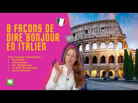 dire bonjour en italien