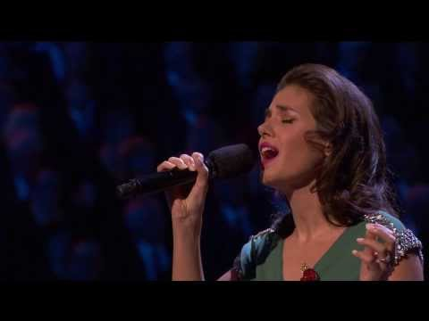 Katie Melua performing 'I Will Be There'...