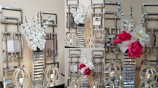 DIY Glam Wayfair Inspired Dupe| Dollar Tree DIY Glam Mirrored Home Decor