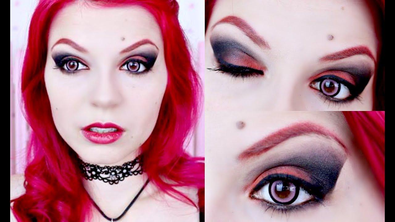 vampire goth makeup tutorial youtube