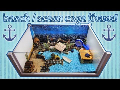 BEACH / OCEAN Hamster Cage Theme!