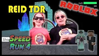 ROBLOX / SPEED RUN 4 (WINS & FAILS!) / Reid TDR for Kids, Dad and Son, no bad words, YouTube