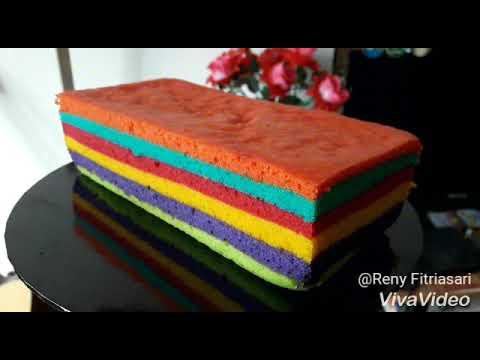 Rainbow Cake Kukus Lembut YouTube