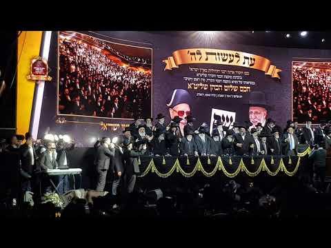 משה קליין בבנייני האומה כינוס הרבנים הגדול בעולם