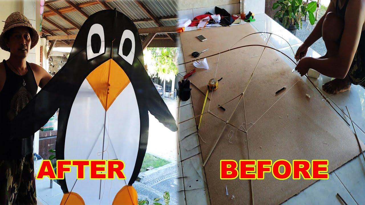 Cara membuat layang-layang kreasi pinguin   Rareangon Bali