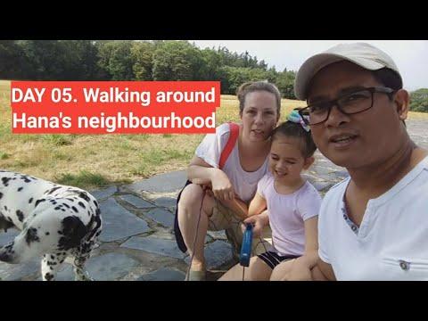 Filipino-Czech family in England: Beautiful houses of Hana's neighbours +Saw wild dear