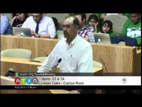 Austin City Council Meeting September 22, 2016 Kerry Aaron