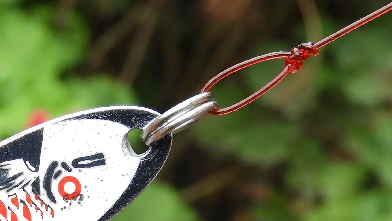 Usa el nudo rapala con todo señuelo de pesca