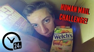 i mailed myself in a box and it surprisingly worked human mail challenge
