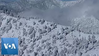 California Winter Storm Leaves Snow-Covered Mountains