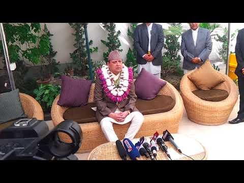 EX King Gyanendra Shah Bhaitika ( जिम्मेवारी दिनु र नेतृत्व दिनु तयार छु ). GorakhbhumiNews.com