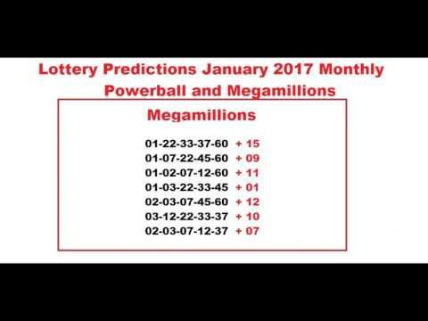 Lottery Predictions January 2017 Monthly - Powerball and Megamillions