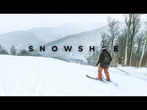 Snowshoe Mountain Skiing In 4K Cinematic // POWDER IN WEST VIRGINIA! - 100 Subscriber Special