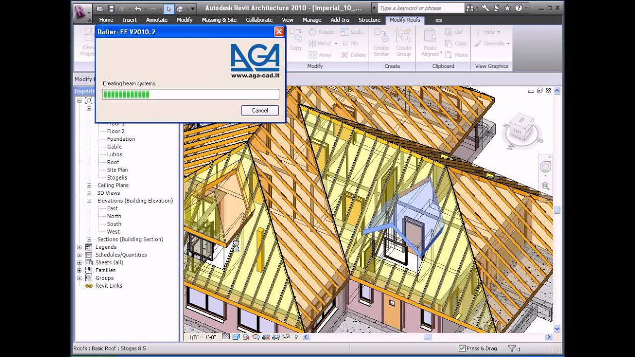 Tools4revit Rafter Plus Tool Creates Rafters Within Revit