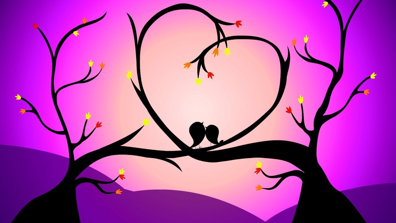 Animated Love Greetings Cute Love Birds Background Video Love
