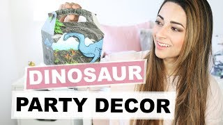 KIDS DINOSAUR PARTY SUPPLIES AND IDEAS + 3 Year Old Gift Ideas | BUDGET DIY PARTY | Ysis Lorenna