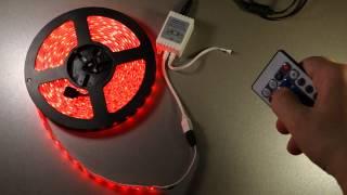 Светодиодная лента RGB(Видеообзор цветной светодиодной ленты из китайского интернет-магазина ChinaBuye: http://www.chinabuye.com/500cm-300-led-lights-rgb-smd..., 2014-06-20T04:55:50.000Z)