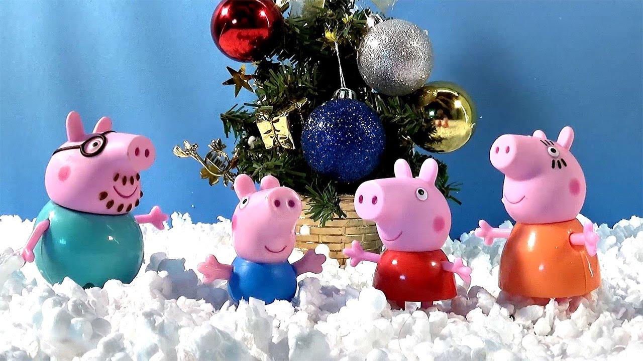 Свинка Пеппа украшает новогоднюю ёлку - Peppa Pig - YouTube