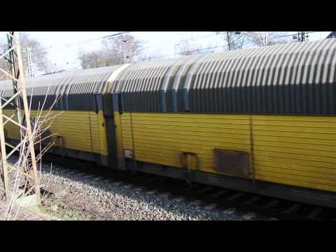 Yellow Freight Train under Nuremberg Rangierbahnhof