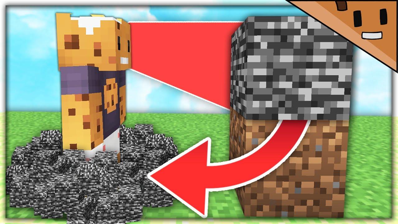 Minecraft, But Blocks Break When You Look At It...