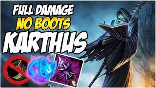 NO BOOTS, FULL DAMAGE KARTHUS | League of Legends