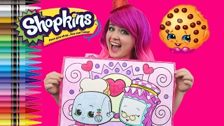 Shopkins Gran Jam & Toasty Pop GIANT Coloring Page Crayola Crayons | COLORING WITH KiMMi THE CLOWN
