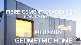 Fibre cement cladding: how to design a modern, geometric home