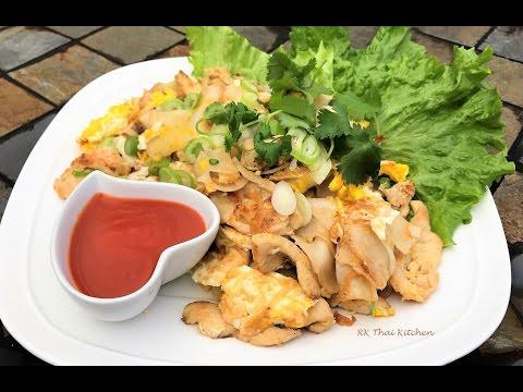ก๋วยเตี๋ยวคั่วไก่ Stir Fried Rice Noodles with Chicken.| Thai Food