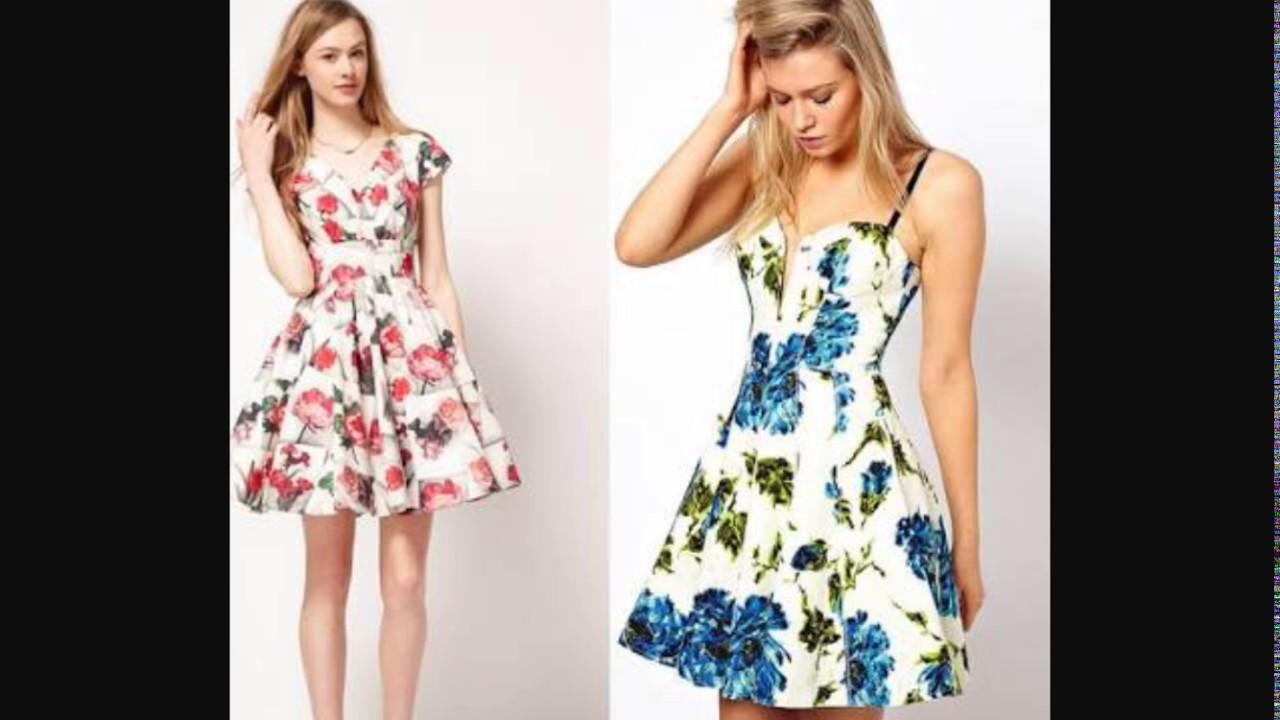 Moda vestidos floreados 2017