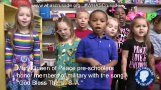Preschoolers singing God Bless the USA
