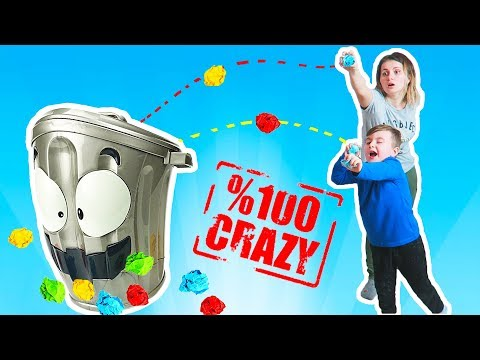 Crazy Loony Bin Trash Can Challenge