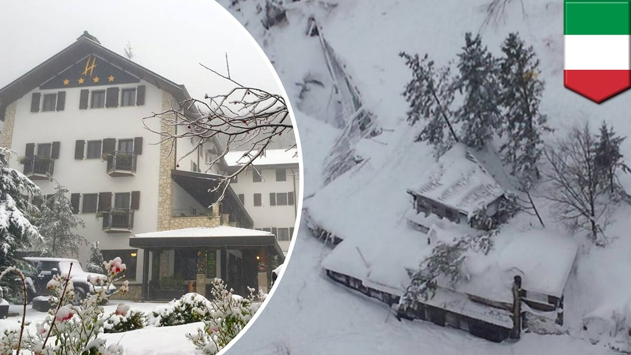 Rigopiano hotel avalanche first funerals as search goes on bbc news - Italy Avalanche Hotel Rigopiano Completely Destroyed 30 People Feared Dead Tomonews