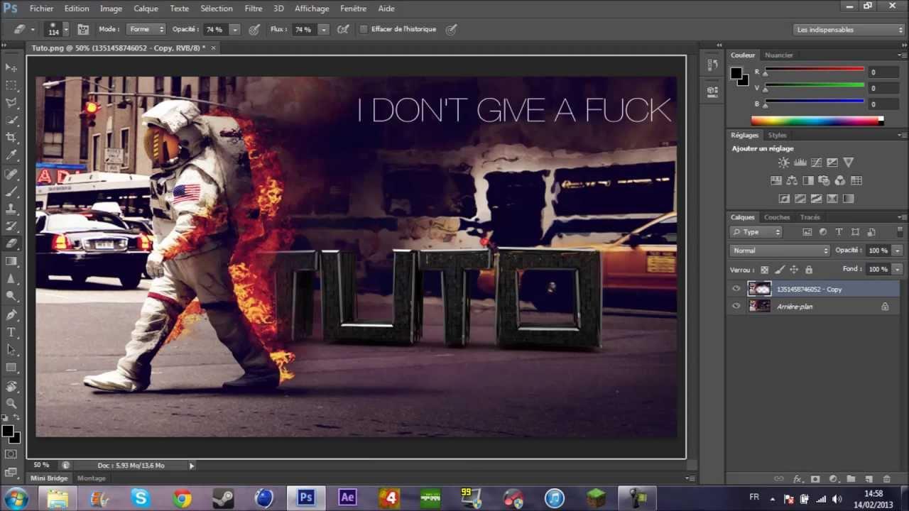 Tuto Créer Un Wallpaper Avec Vôtre Pseudo Cinéma 4d Photoshop