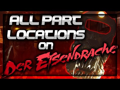 Black Ops 3 - Der Eisendrache All Shield Part Locations (BO3 COD Zombies)