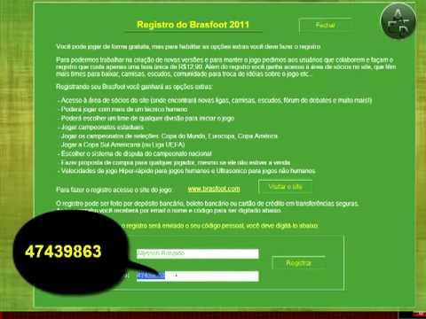 brasfoot 2011 registrado gratis pelo baixaki