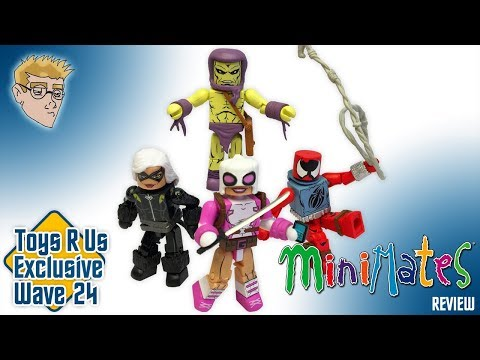 MINIMATES Scarlet Spider-Man, Black Cat, Carrion And Gwenpool Figure REVIEW - Toys R Us Exclusive