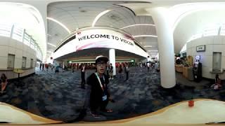 VidCon 2017   8K 360 Virtual Reality Tour   Insta360 Pro 8K Stabilization Demo