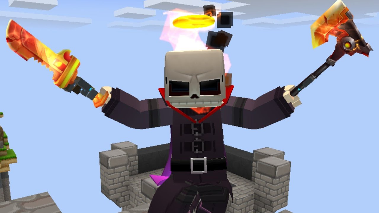 Download Using MATTSUN's SKIN and ALL LAVA TOOLS in BedWars! (Blockman Go)